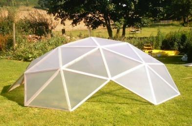 & Low cost geodesic dome greenhouse kit