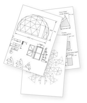 Geodesic dome building plans house plans home designs for Geothermal house plans