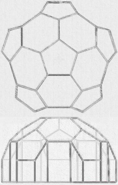 your finished dome should look something like the illustration below - Dome Greenhouse Designs