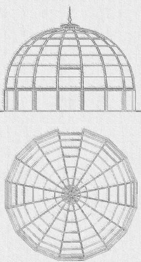Design Drawing For A Segmented Dome