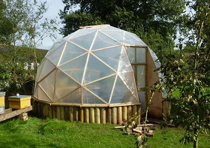 6 meter dome on raised base